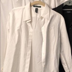 White Ralph Lauren button down shirt